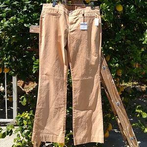 Gap Slim Boot Denim Washed Khaki Pants 12